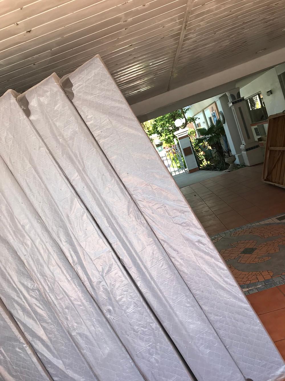 stacks of brand new mattresses
