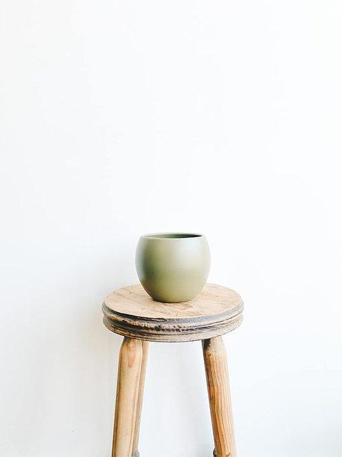 Monet Ceramic Pot - Matte Moss Green