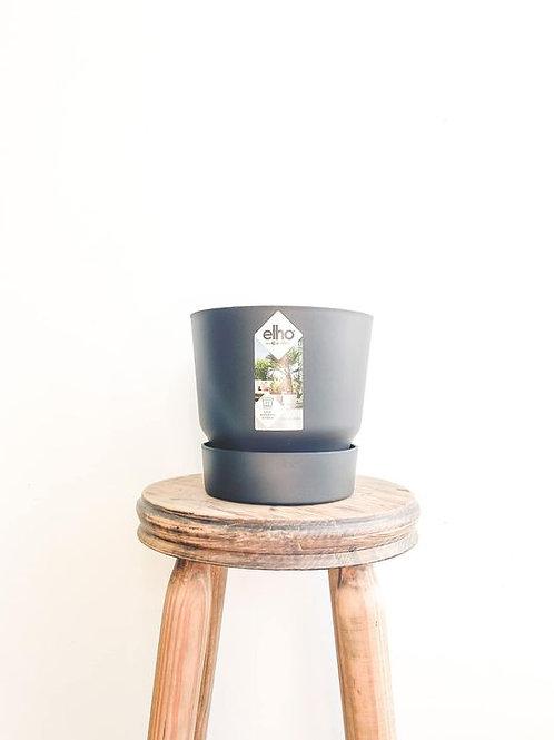 elho Greenville Round Pot - Black