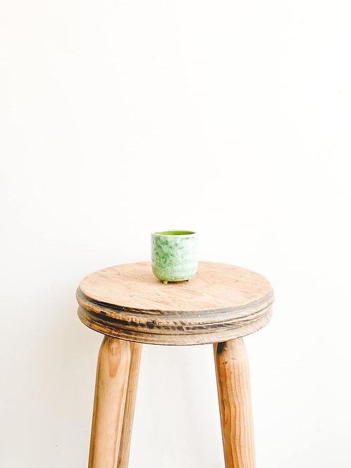 Emerald Reactive Glazed Pot