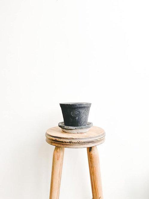 Handmade Grey Terracotta Pot