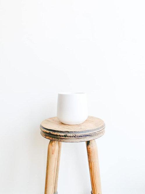 Amber Ceramic Pot - Matte White