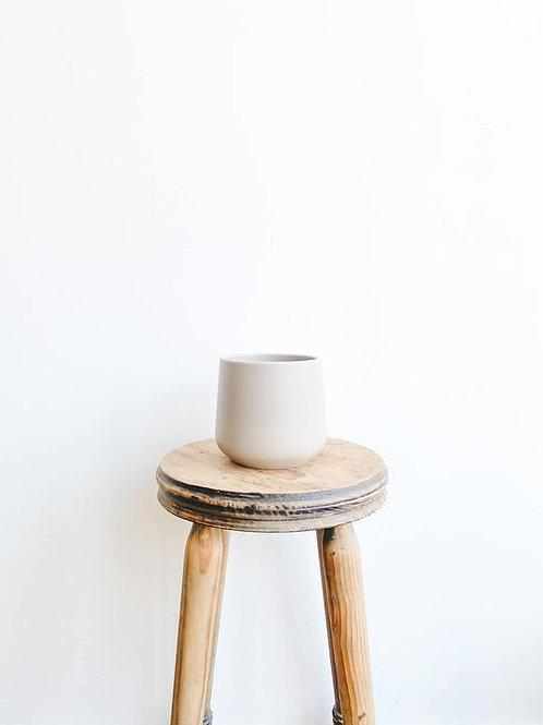 Amber Ceramic Pot - Matte Mink