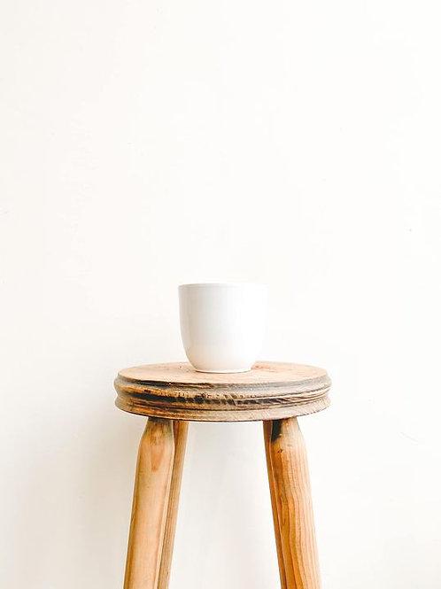 Tusca Ceramic Pot - Gloss White