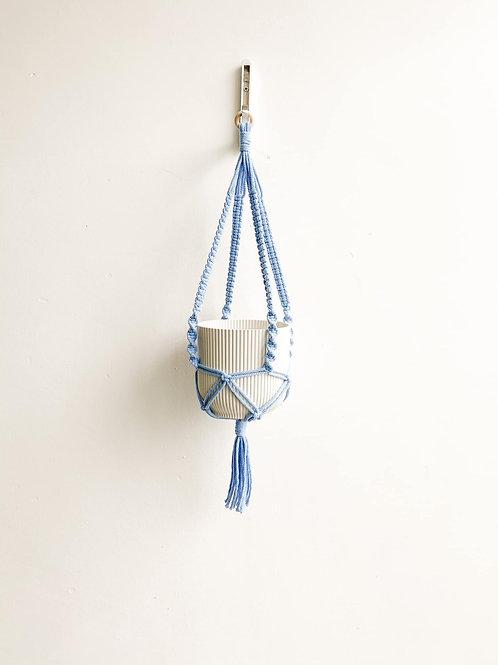 Macrame Plant Hanger - Baby Blue