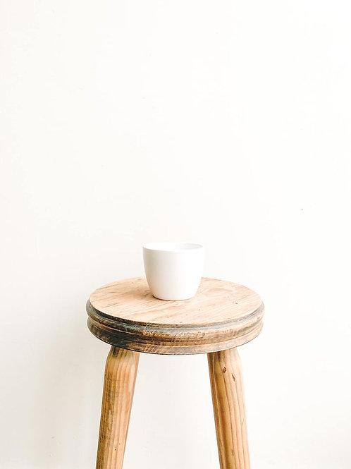 Boule Ceramic Pot - Matt White