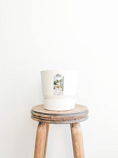 elho Greenville Round Pot - White
