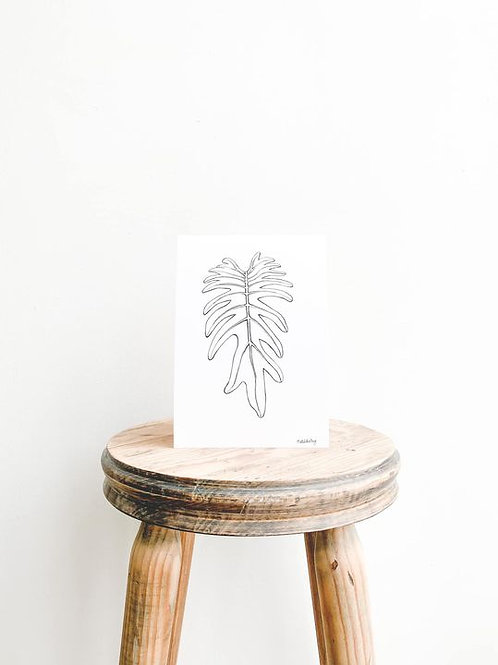 Xanadu Leaf Art Print - A5