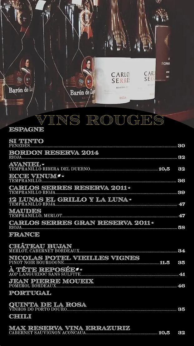 vin rouge menu, BAR, CARTE DES VINS,  edmond bistro, laval, epicerie fine, COCKTAIL CLASSIQUE, SPIRITUEUXCOCKAIL SIGNATURE menu, BAR, CARTE DES VINS,  edmond bistro, laval, epicerie fine, COCKTAIL SIGNATURE