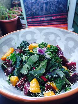 Homegrown Summer Herb Salad