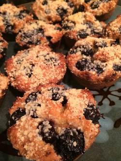 Grain-Free Blueberry Crumb Muffins