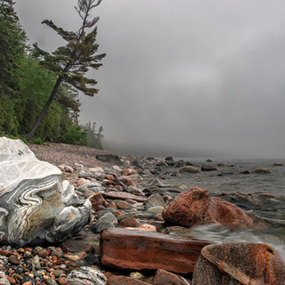 A Cloudy Day on the Shores of Lake Super