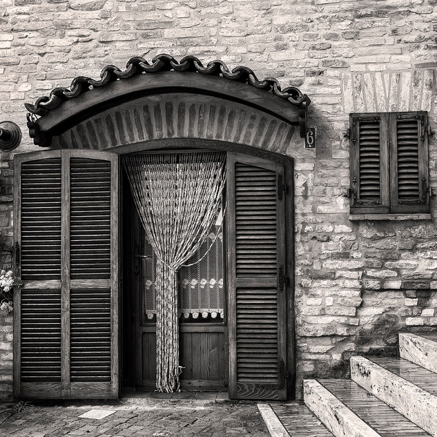 Doorway and Stairs in Piazza Milone