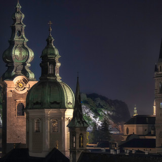 Salzburg Overlook at Night
