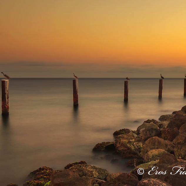 Sunset Curacao Pier