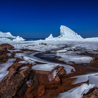 Jagged Ice on Lake Superior