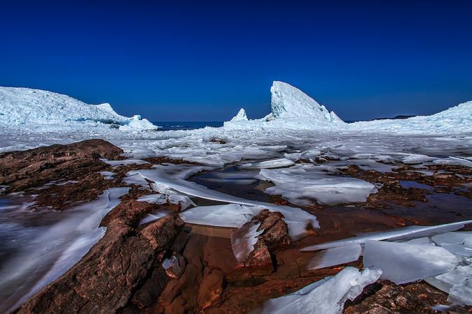 Jagged Ice on Lake Superior