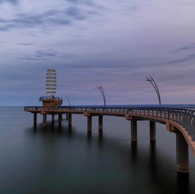 Burlington Pier at Twilight