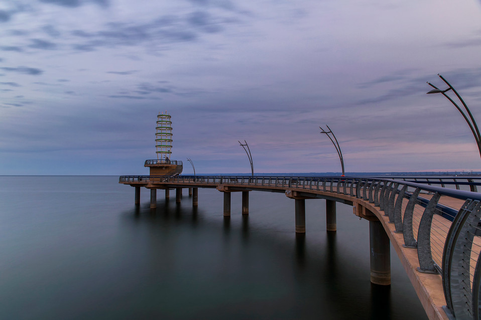 Burlington Pier at Twilight