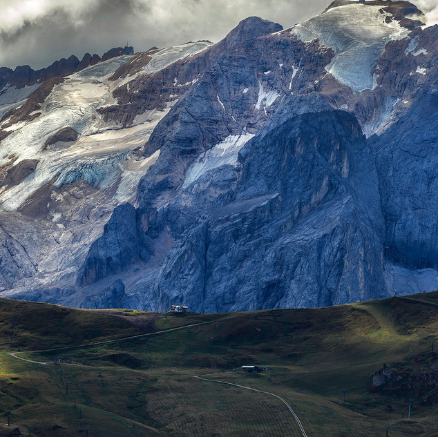 View from Passo Sella Italy