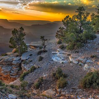 Setting Sun in the Grand Canyon