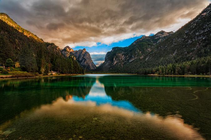 Lake Bressanone, Dolomites, Italy