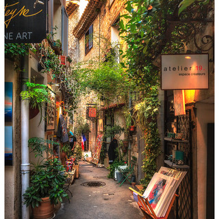 Pretty Street, Mougins, France
