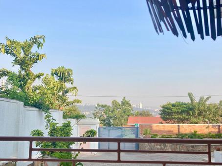quarantine hotel 'the nest' Kigali (1+2), my street, flat-sharing-community living room