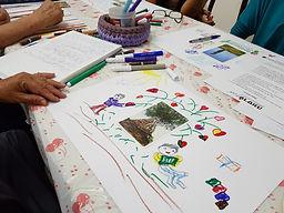 יצירת סדנה בשילוב קלפים טיפוליים וציורים
