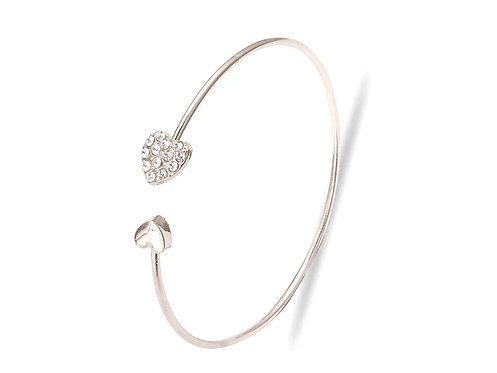 Crystal Double Heart Bracelet