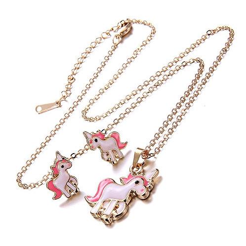 Unicorn Necklace & Earring Set