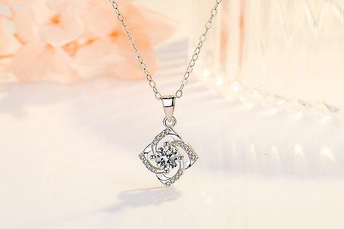 Clover Flower Crystal Necklace