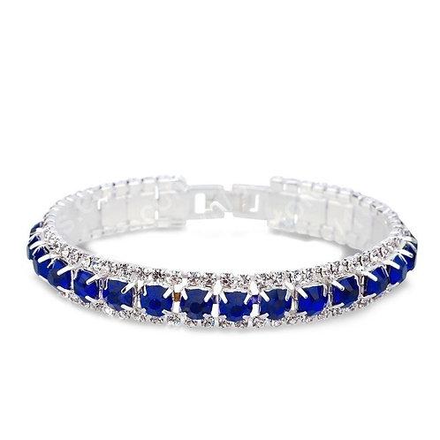 Zircon Dark Blue Crystal Stone Bracelet