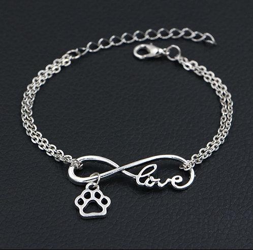 Dog Love Infinity Bracelet