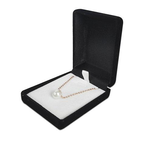 Black Velvet Necklace Jewellery Box