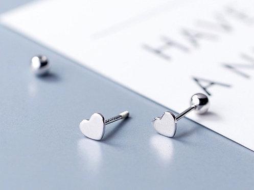Love Heart Studded Earrings
