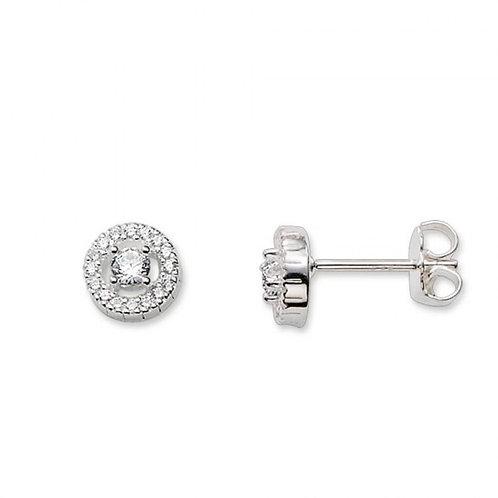 Crystal Round Stud Earrings