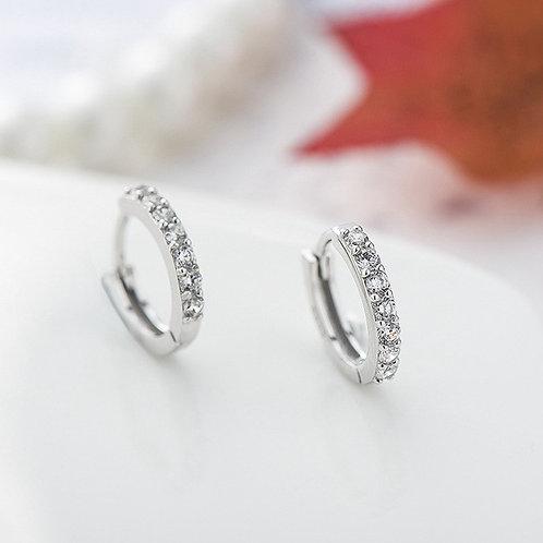Elegant Circular Crystal Earrings