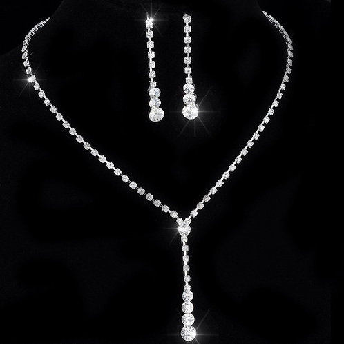 Silver 2pc Necklace & Earring Set
