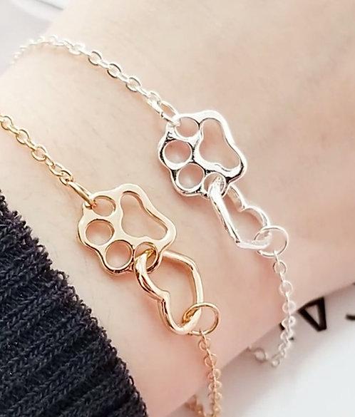 Paw & Heart Infinity Bracelet
