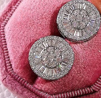 Silver Zircon Stud Earrings