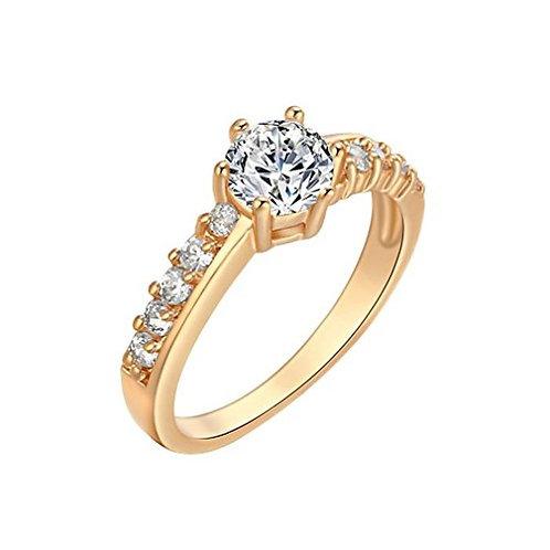 Golden Crystal Ring