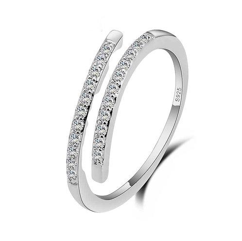 Adjustable Crystal Infinity Ring