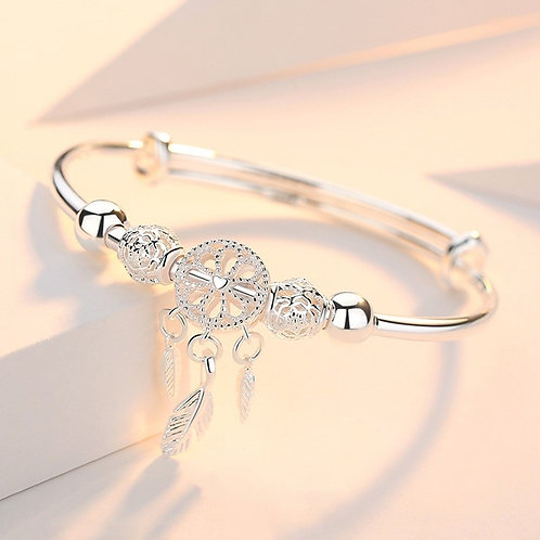 Silver Dreamcatcher Bracelet