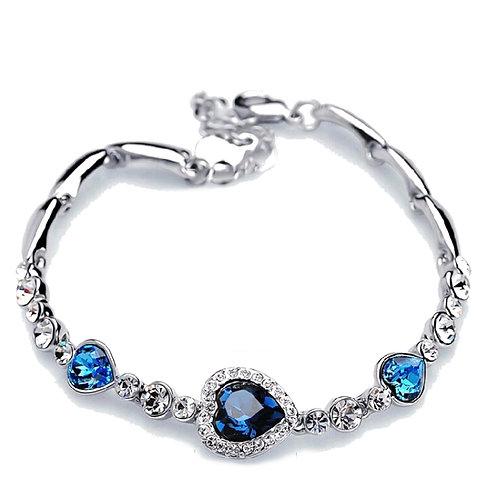 Crystal Love Hearts Bracelet