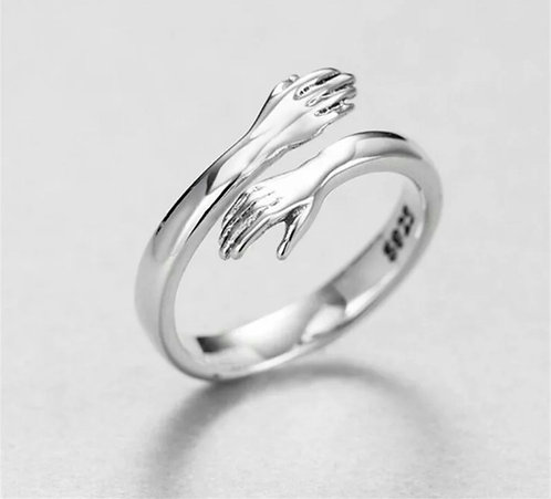 Adjustable Silver Hug Ring