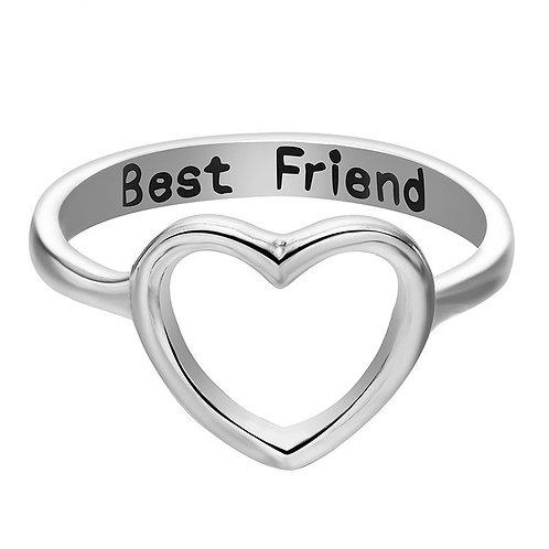 Silver My Best Friend Ring