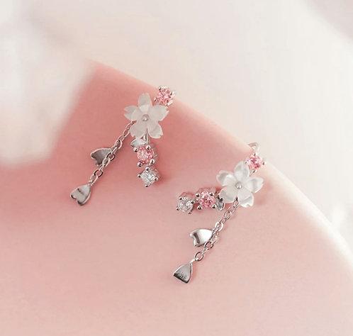 Cherry Blossom Flower Stud Earring