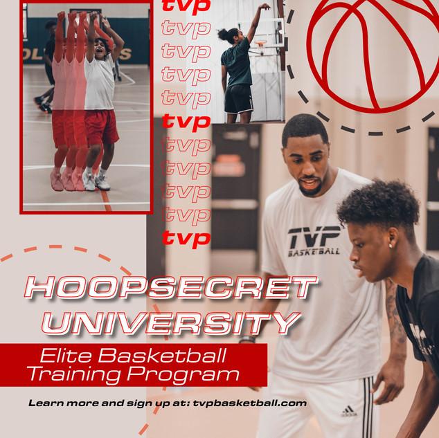 TVP Hoopsecret University Flyer Design