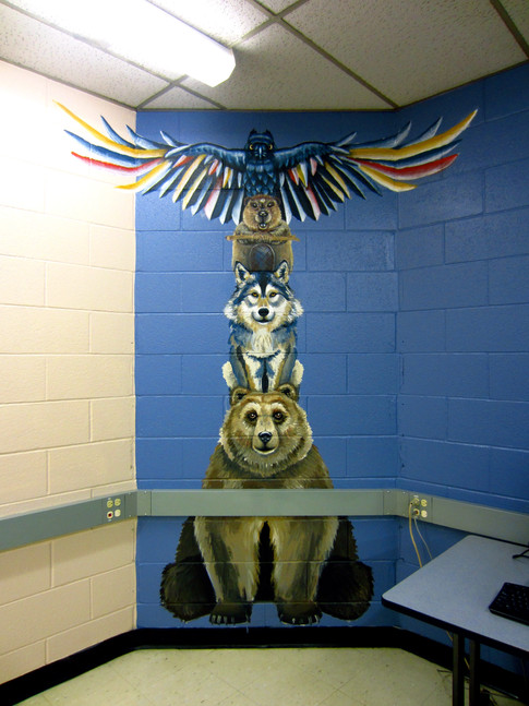 Animal Mural (Totem Pole inspired)